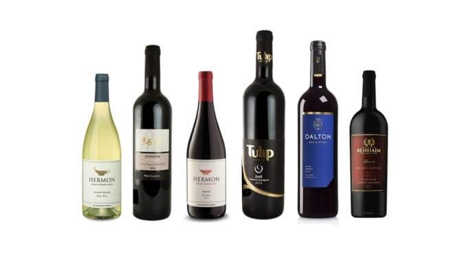 Imagem apresenta os vinhos degustados no evento de hoje: Mount Hermon White 2017, Bin Merlot 2016, Mount Hermon Red 2017,Just Cabernet Sauvignon 2016, Oak Aged Shiraz 2016, Cabernet Sauvignon Reserve 2012.